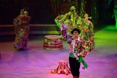 Het circus toont prestatiesbaronetten in Nizhny Novgorod Stock Afbeelding