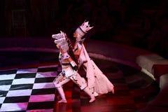 Het circus toont prestatiesbaronetten in Nizhny Novgorod Stock Afbeeldingen