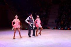 Het Circus van Moskou op Ijs op reis Royalty-vrije Stock Fotografie