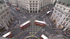 Het Circus van Oxford, Londen stock videobeelden