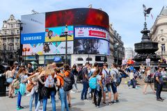 Het Circus van Piccadilly Stock Foto