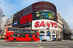 Het Circus van Piccadilly, Londen. Stock Foto