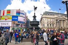 Het Circus van Piccadilly in Londen Stock Afbeeldingen