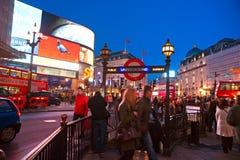 Het Circus van Piccadilly, Londen, het UK. Stock Foto