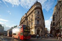 Het Circus van Piccadilly, Londen, het UK Stock Afbeeldingen