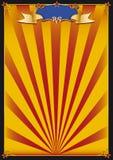 Het circusachtergrond van de zon Stock Foto's