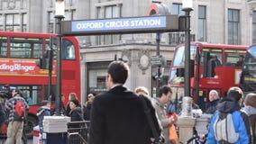 Het Circuspost van Oxford, Londen stock video