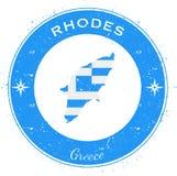 Het cirkel patriottische kenteken van Rhodos Stock Fotografie