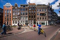 Het cirkelen in Amsterdam stock fotografie