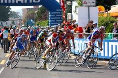 Het cirkelen - de Kampioenschappen 2009 van de Wereld van de Weg UCI royalty-vrije stock afbeelding