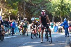 Het cirkelen gezonde triatlonoefening Royalty-vrije Stock Afbeeldingen
