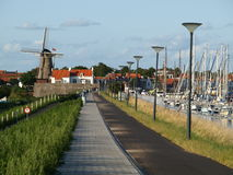 Het cirkelen Vakantie van Rotterdam tot Brugge Stock Fotografie