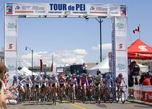 Het Cirkelen van de Vrouwen van wereldklasse Ras - Tour DE PEI Stock Fotografie