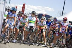 Het Cirkelen van de Vrouwen van wereldklasse Ras - Tour DE PEI Stock Foto's