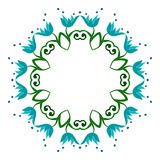 Het cirkelpatroon is symmetrisch Vector illustratie vector illustratie
