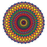 Het cirkelpatroon wordt gebruikt om schotels, kleren, en andere doeleinden te ontwerpen Stock Foto