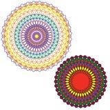Het cirkelpatroon wordt gebruikt om schotels, kleren, en andere doeleinden te ontwerpen Royalty-vrije Stock Foto
