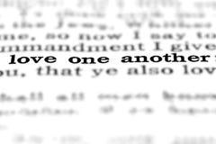 Het Citaatliefde van het Nieuw Testamentheilige schrift elkaar royalty-vrije stock afbeelding