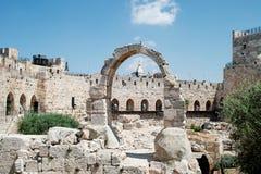 Het Citadelmuseum, Toren van David Museum Stock Foto