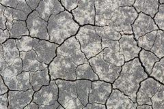 Het close-up barstte zwarte aardegrond toe te schrijven aan hete sumer zonder regen Dor seizoen, agrucultural ramp Het globale op stock foto