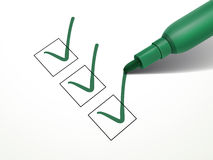 Het close-up bekijkt groene pen Stock Foto's