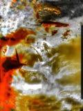 Het close-up van Baltische Amber Stone met omvat royalty-vrije stock foto's