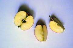 Het close-up van besnoeiingsapple vegetariër royalty-vrije stock afbeeldingen