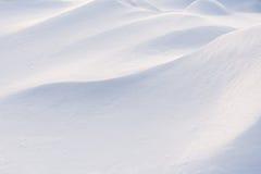 Het close-up van de de wintersneeuwbank Stock Afbeelding