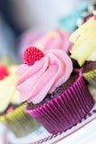 Het close-up van de dessertcake royalty-vrije stock afbeeldingen