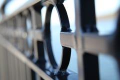 Het close-up van de ijzeromheining Stock Fotografie