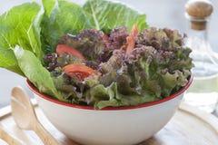 Het Close-up van de salade Stock Afbeelding