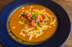 Het Close-up van de tortillasoep Stock Afbeelding