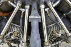 Het close-up van de vliegtuigenmotor Royalty-vrije Stock Afbeeldingen