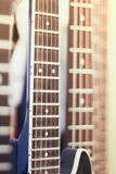 Het close-up van Griffgitaren op de achtergrond van andere gieren voor gitaren royalty-vrije stock foto
