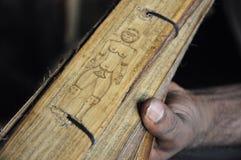 Het close-up van het Ayurvedaboek stock fotografie