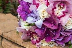 Het close-up van het huwelijksboeket Stock Afbeelding
