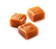 Het close-up van het karamelsuikergoed Royalty-vrije Stock Foto's