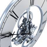 Het close-up van het klokmechanisme vector illustratie