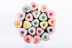 Het close-up van kleurenpotloden royalty-vrije stock fotografie