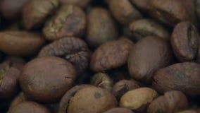 Het close-up van koffiebonen stock footage