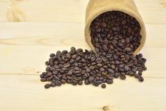 Het close-up van koffiebonen Stock Fotografie