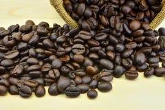 Het close-up van koffiebonen Royalty-vrije Stock Foto