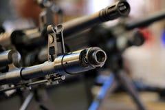 Het close-up van machinegeweergezichten Stock Afbeeldingen