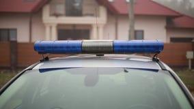 Het close-up van politieflitsers stock video