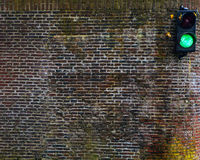 Het close-upfoto van het waterverkeerslicht Royalty-vrije Stock Afbeeldingen