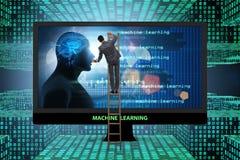 Het cognitieve gegevensverwerking en machine het leren concept stock foto