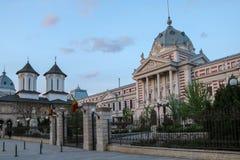 Het ColÈ› ea Ziekenhuis in Boekarest, Roemenië De foto werd genomen in april 2018 royalty-vrije stock fotografie