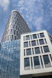 Het collectieve concept van de binnenstad van de bedrijfsdistrictsarchitectuur Stock Afbeelding
