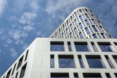 Het collectieve concept van de binnenstad van de bedrijfsdistrictsarchitectuur Royalty-vrije Stock Foto's