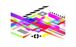 Het collectieve futuristische ontwerp, vat geometrische achtergrond met samen Stock Fotografie